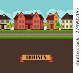 town seamless border with...   Shutterstock .eps vector #274905197