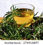 rosemary tea and fresh green... | Shutterstock . vector #274913897