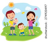 happy family day. cheerful... | Shutterstock .eps vector #274920497
