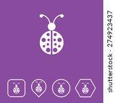 lady bug icon on flat ui colors ...