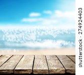 Blurred Background Of Sea Coas...