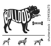 isolated dog breed silhouettes... | Shutterstock .eps vector #274933673