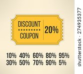 discount promotion coupon in... | Shutterstock .eps vector #274935377