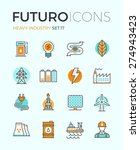 line icons with flat design... | Shutterstock .eps vector #274943423