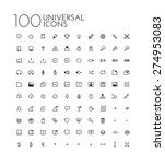 universal icon set | Shutterstock .eps vector #274953083