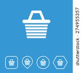 shopping basket icon on flat ui ...