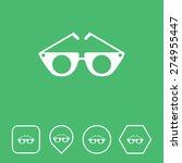 sun glasses icon on flat ui...