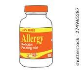Allergy Medication Bottle