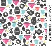 tea time. seamless pattern   Shutterstock .eps vector #274969007