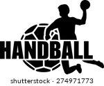 handball player ball set   Shutterstock .eps vector #274971773