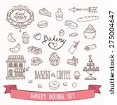 bakery and dessert doodles.... | Shutterstock .eps vector #275004647
