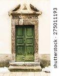 Italian Door In A Small Villag...