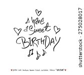 hand drawn greeting    vector   ... | Shutterstock .eps vector #275028017