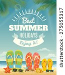 vector summer background with... | Shutterstock .eps vector #275055317