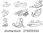 vector set  design elements and ... | Shutterstock .eps vector #275055533