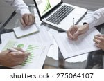 business meeting about... | Shutterstock . vector #275064107
