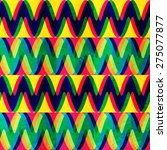 zigzag seamless pattern with... | Shutterstock .eps vector #275077877