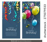 vector set of birthday banners... | Shutterstock .eps vector #275079533