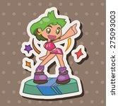 dancer theme elements | Shutterstock .eps vector #275093003