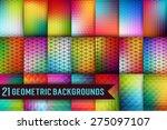 set of geometric background... | Shutterstock .eps vector #275097107