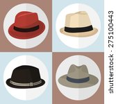 collection of hat man icon... | Shutterstock .eps vector #275100443