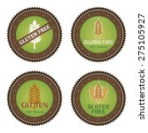 set of gluten free labels with... | Shutterstock .eps vector #275105927