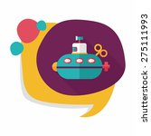 submarine flat icon with long... | Shutterstock .eps vector #275111993