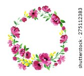 floral frame. cute succulents... | Shutterstock .eps vector #275112383
