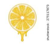 lemon slice isolated on white.... | Shutterstock .eps vector #275117873