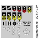 us navy rank insignia for... | Shutterstock .eps vector #27514759