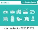 buildings vector icons | Shutterstock .eps vector #275149277