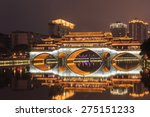 night lounge bridge at chengdu... | Shutterstock . vector #275151233