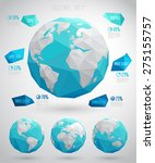 set of vector globes  ... | Shutterstock .eps vector #275155757
