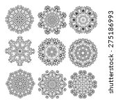 set of ethnic round ornaments....   Shutterstock .eps vector #275186993