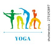 vector yoga illustration. yoga... | Shutterstock .eps vector #275192897