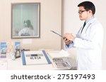 doctor audiologist testing girl'... | Shutterstock . vector #275197493