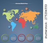 abstract world map with... | Shutterstock .eps vector #275206553
