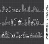 cityscape seamless pattern   Shutterstock .eps vector #275212967