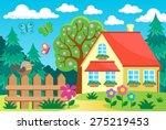 garden and house theme...   Shutterstock .eps vector #275219453