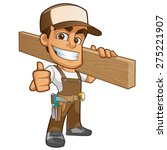friendly carpenter  he is... | Shutterstock .eps vector #275221907