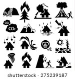 natural disaster icon set | Shutterstock .eps vector #275239187