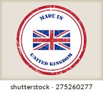 made in uk grunge rubber stamp...   Shutterstock .eps vector #275260277