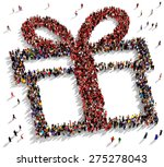 large group of people seen from ... | Shutterstock . vector #275278043