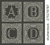 set of vector floral and...