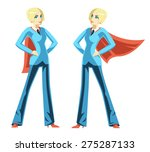 confident business woman. red... | Shutterstock .eps vector #275287133