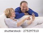 happy mature couple using smart ...   Shutterstock . vector #275297513