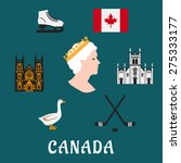 Canada Travel Flat Icons And...