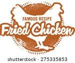 fried chicken menu stamp | Shutterstock .eps vector #275335853