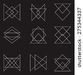 set of 9 geometric shapes.... | Shutterstock .eps vector #275344337