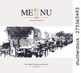 restaurant menu design. vector... | Shutterstock .eps vector #275365493